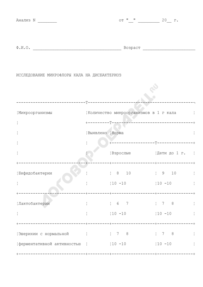 Протокол исследования микрофлоры кала на дисбактериоз. Страница 2
