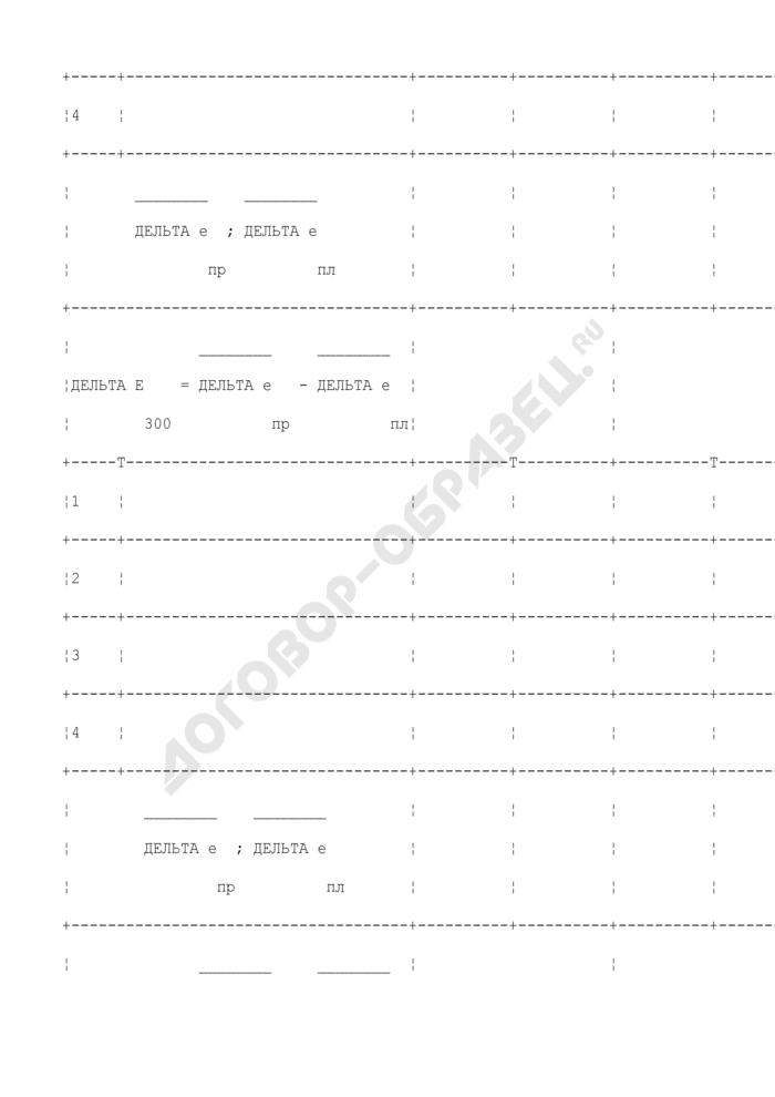 Протокол поверки термопреобразователя 2-го или 3-го разряда. Страница 3