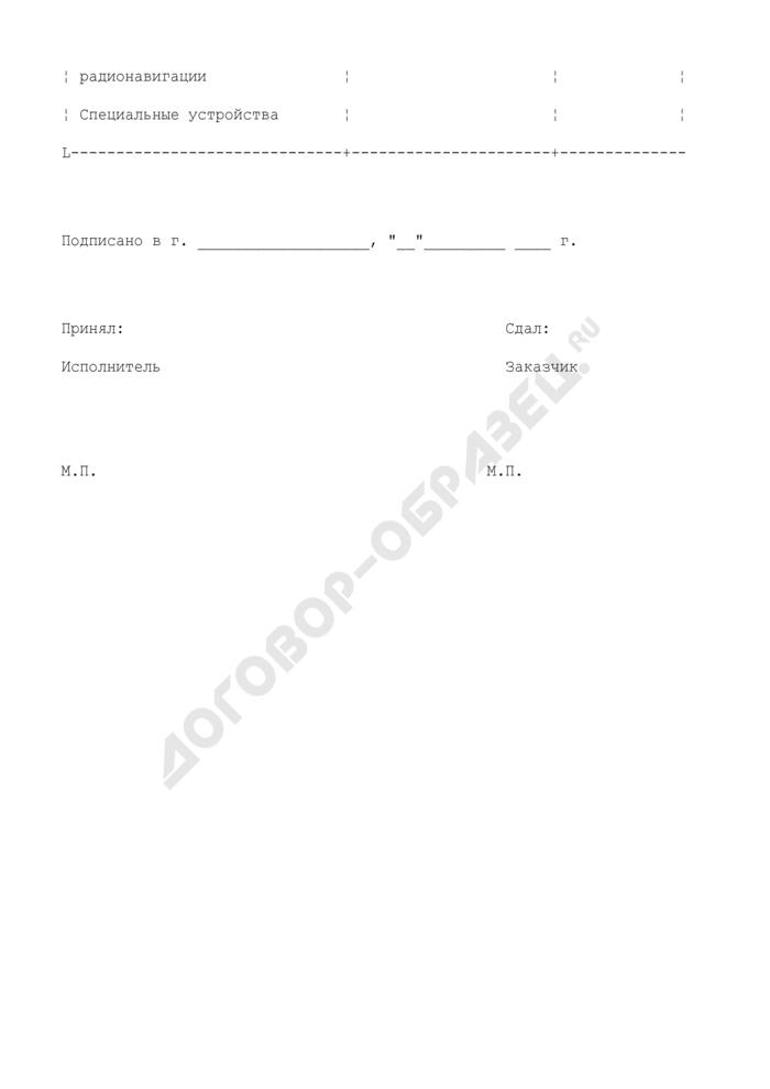 Протокол прибытия судна на верфь (приложение к контракту на модернизацию (переоборудование) судна). Страница 2