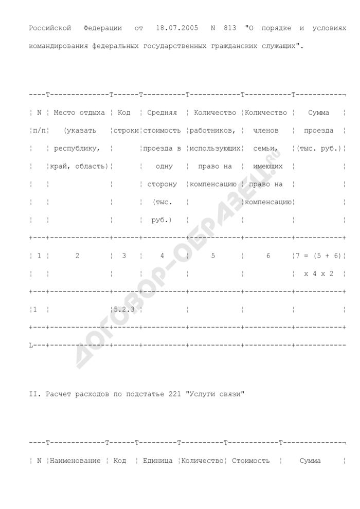 Расчеты к смете доходов и расходов территориального органа Роскартографии на текущий финансовый год. Страница 2