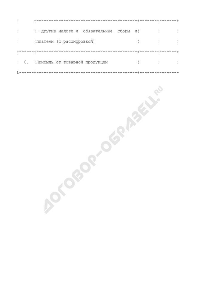 Расчет балансовой прибыли, принимаемой при установлении тарифов на производство электрической энергии (таблица N П1.21.1). Страница 3