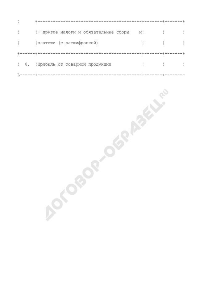 Расчет балансовой прибыли, принимаемой при установлении тарифов на производство тепловой энергии (таблица N П1.21.2). Страница 3