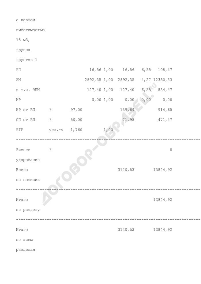 Локальный сметный расчет (локальная смета) при капитальном ремонте (образец). Страница 3