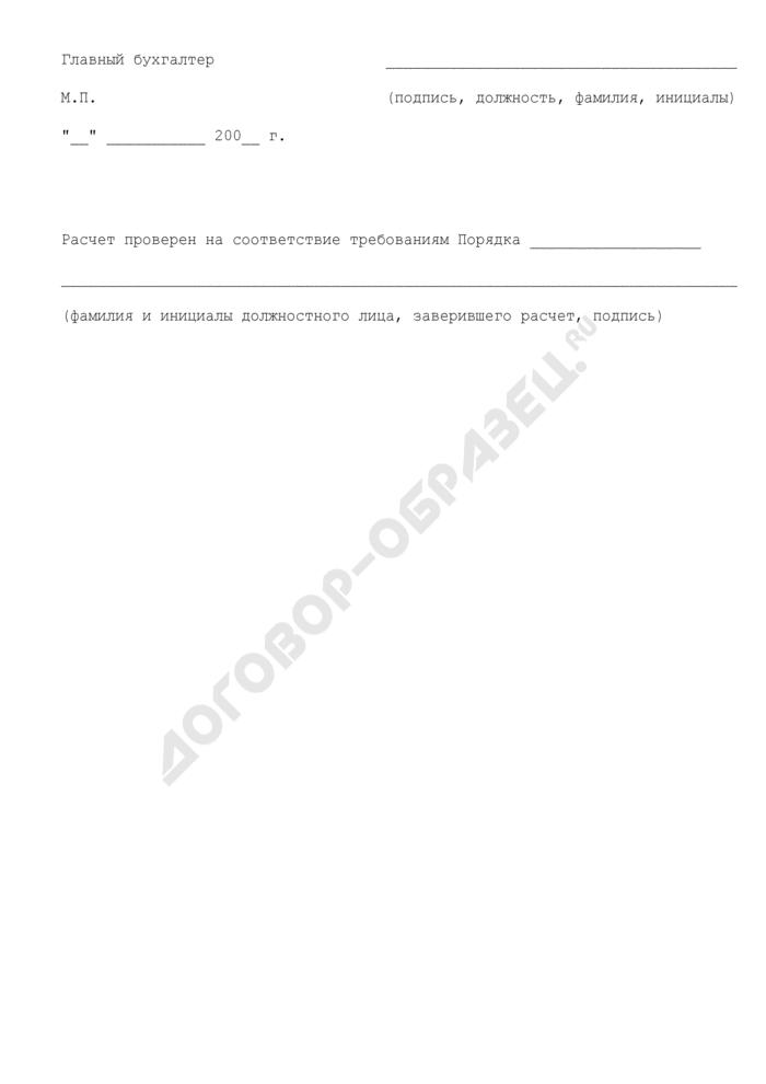 Расчет компенсации, предоставляемой в 2008 году за счет средств бюджета Шатурского муниципального района Московской области по оплате расходов, связанных с предоставлением поручительства. Страница 3
