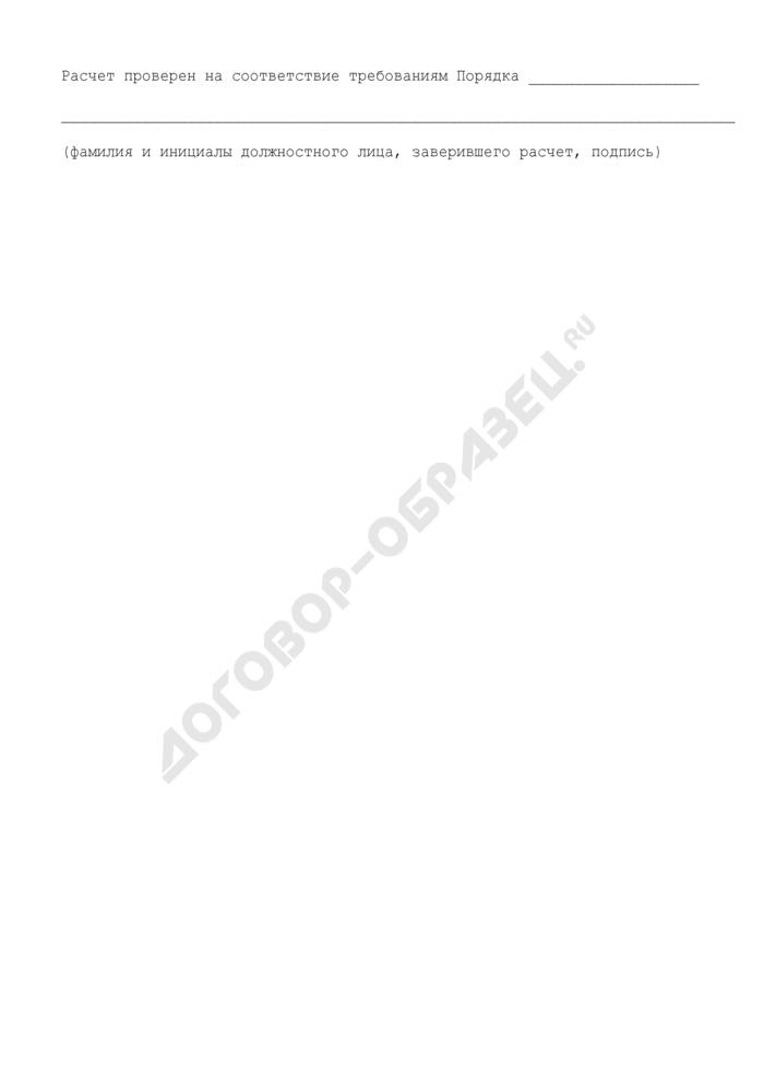 Расчет компенсации, предоставляемой в 2008 году за счет средств бюджета Шатурского муниципального района Московской области по оплате расходов, связанных с организацией финансирования. Страница 3