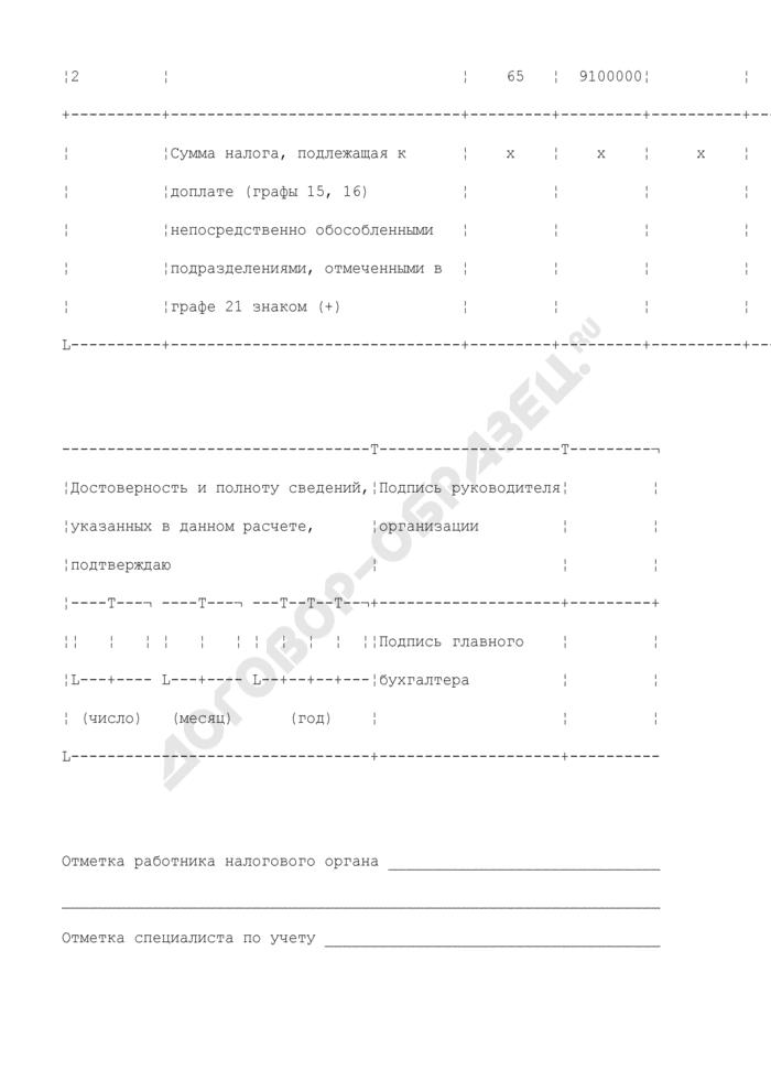 Расчет налога на прибыль организаций за 6 месяцев. Форма N 1151006. Расчет распределения авансовых платежей и налога на прибыль по обособленным подразделениям организаций за 6 месяцев (приложение N 5А к листу 02). Страница 3