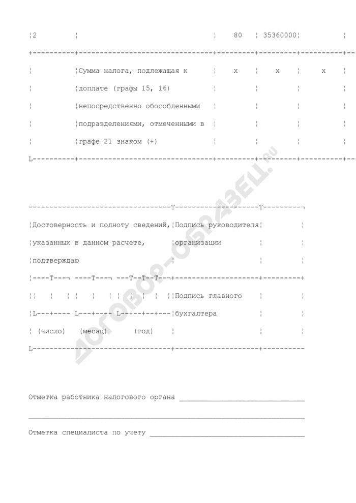Расчет налога на прибыль организаций за 9 месяцев. Форма N 1151006. Расчет распределения авансовых платежей и налога на прибыль по обособленным подразделениям организаций за 9 месяцев (приложение N 5А к листу 02). Страница 3