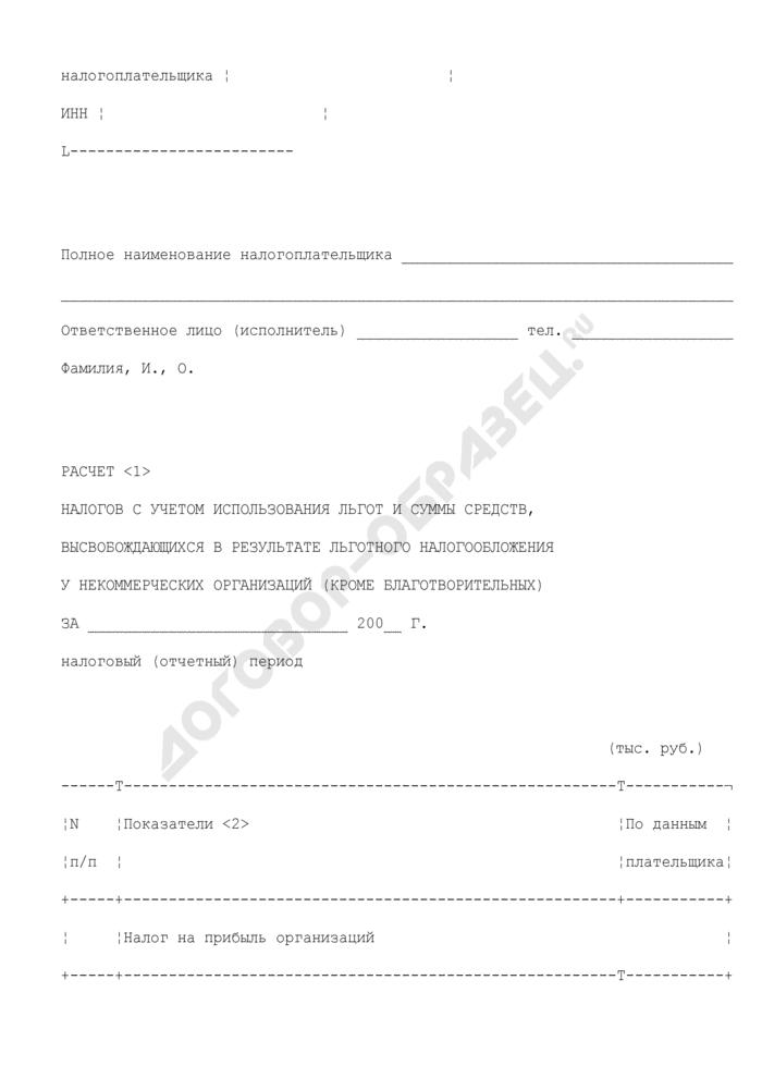 """Расчет налогов с учетом использования льгот и суммы средств, высвобождающихся в результате льготного налогообложения у некоммерческих организаций (кроме благотворительных) в Московской области. Форма N 10 """"а. Страница 2"""