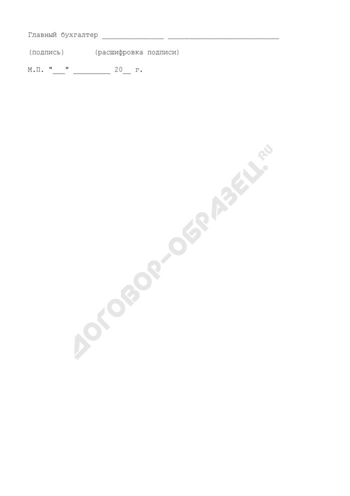 Расчет размера субсидии, предоставляемой за счет средств бюджета города Москвы, по лизинговым платежам в валюте Российской Федерации (ежеквартальный). Страница 3