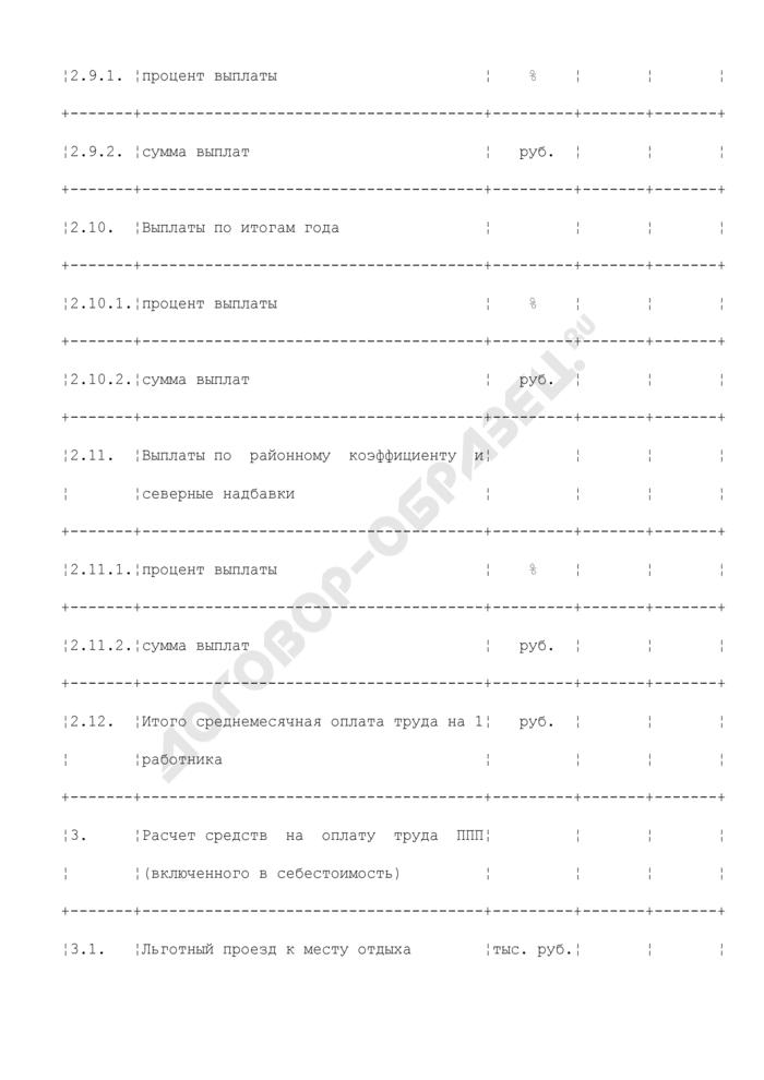 Расчет расходов на оплату труда, связанных с производством электрической энергии, производством тепловой энергии, передачей электрической энергии, передачей тепловой энергии (таблица N П1.16). Страница 3