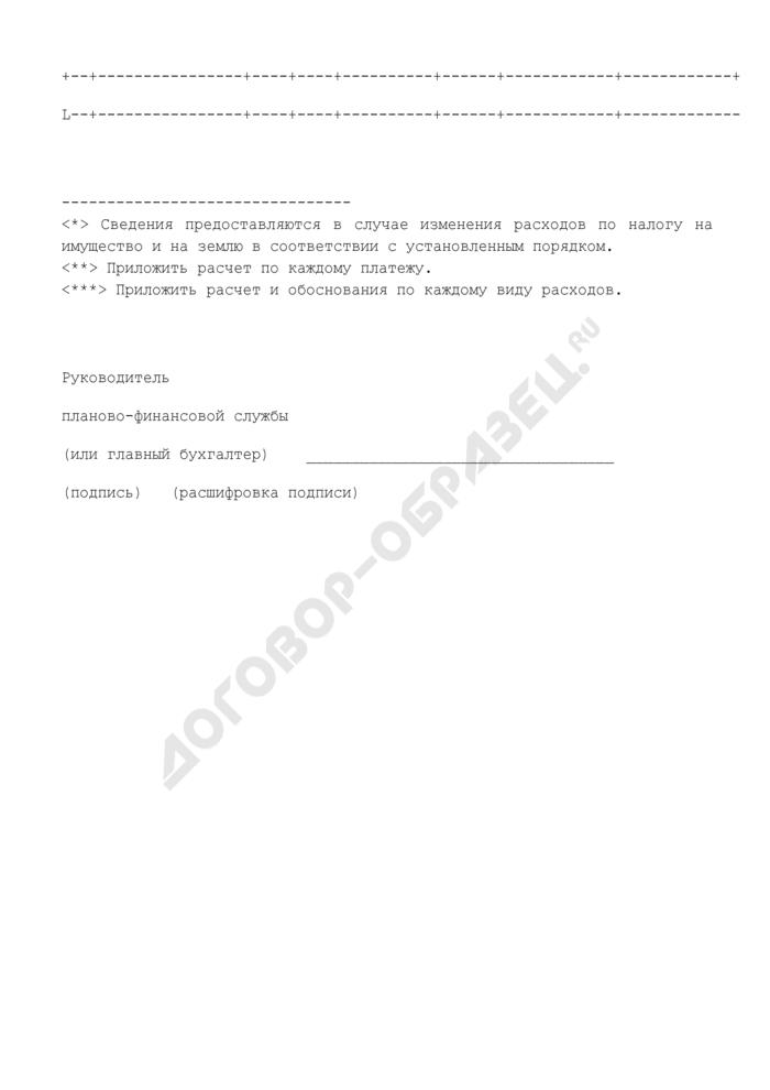 """Расчет расходов бюджетного учреждения по статье 290 """"Прочие расходы"""". Форма N 22. Страница 3"""