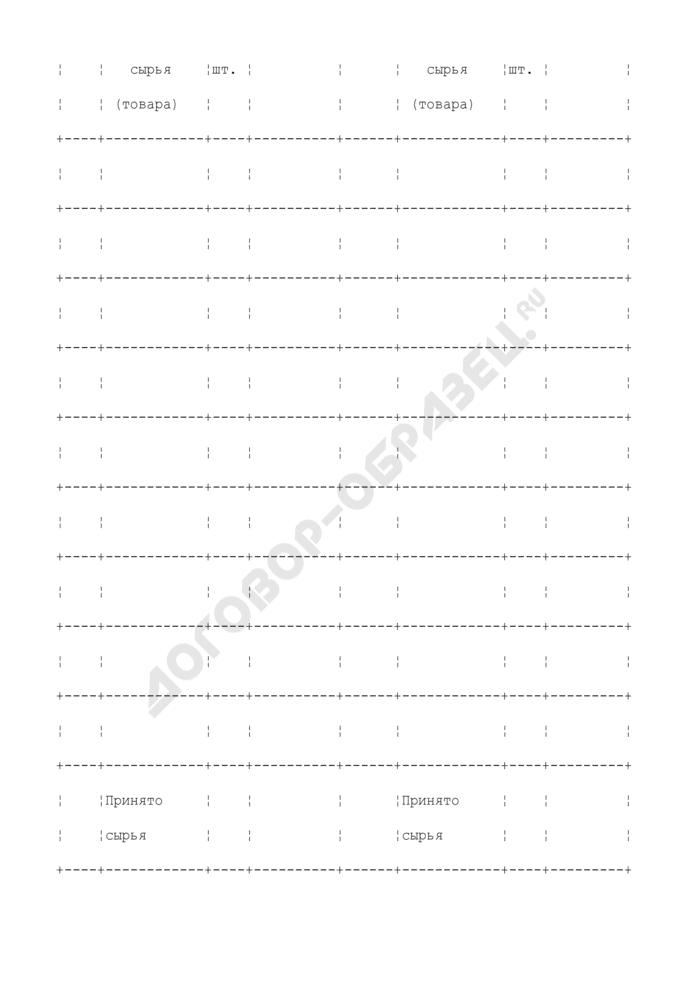 Квитанция для приема вторичного сырья и продажи товаров. Форма N БСО-11. Страница 2