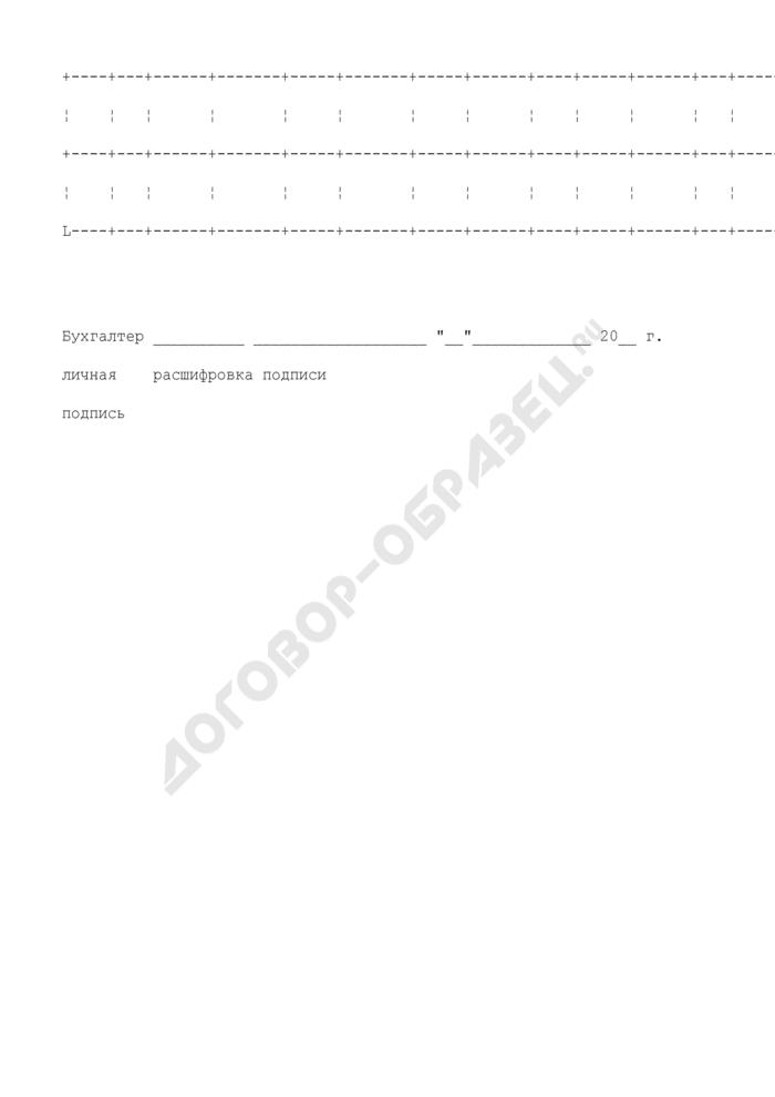 Лицевой счет (СВТ). Унифицированная форма N Т-54А. Страница 3