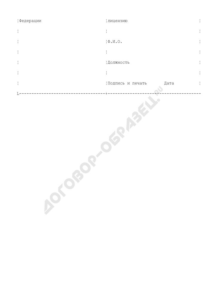 Лицензия на осуществление внешнеэкономических операций с контролируемой продукцией. Страница 3