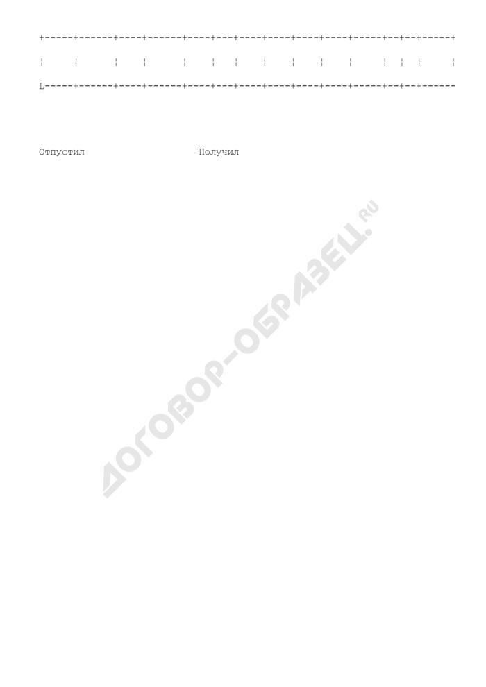 Накладная на расход бумаги и переплетных материалов. Форма N 3-б. Страница 3