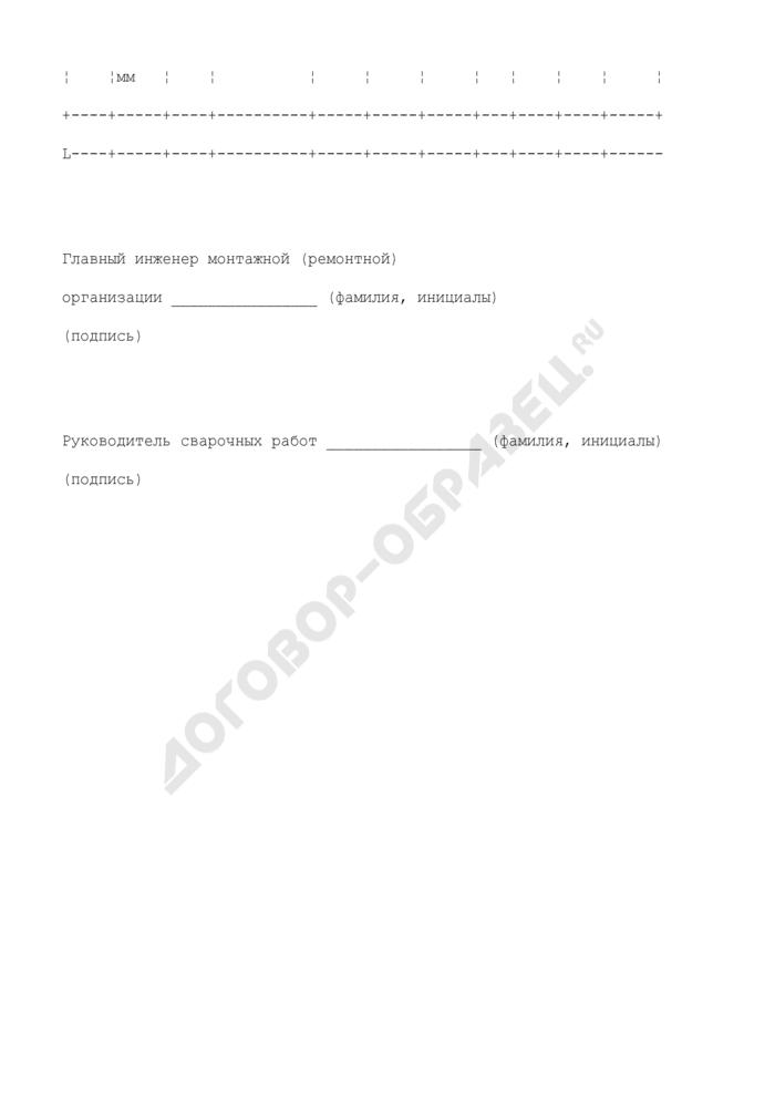Наряд-заказ на испытание образцов сварных соединений. Форма N П27.12. Страница 2