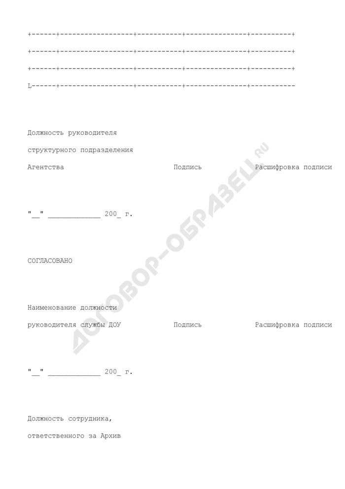 Номенклатура дел структурного подразделения Федерального агентства по обустройству государственной границы Российской Федерации. Страница 2