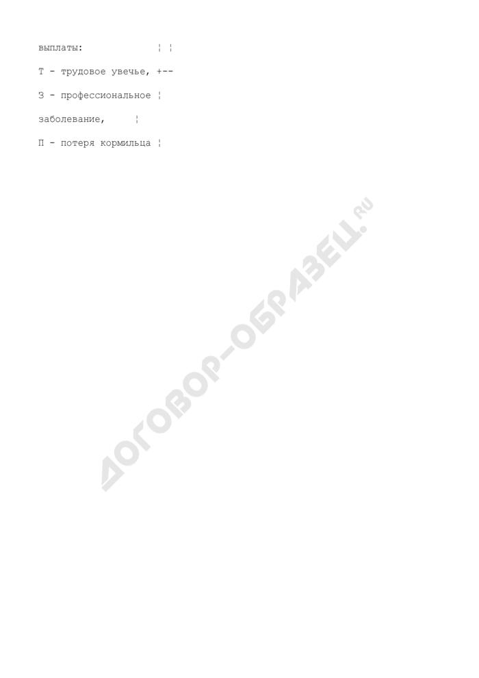 Обложка личного (учетного) дела пострадавшего от несчастного случая на производстве (профзаболевания). Страница 2
