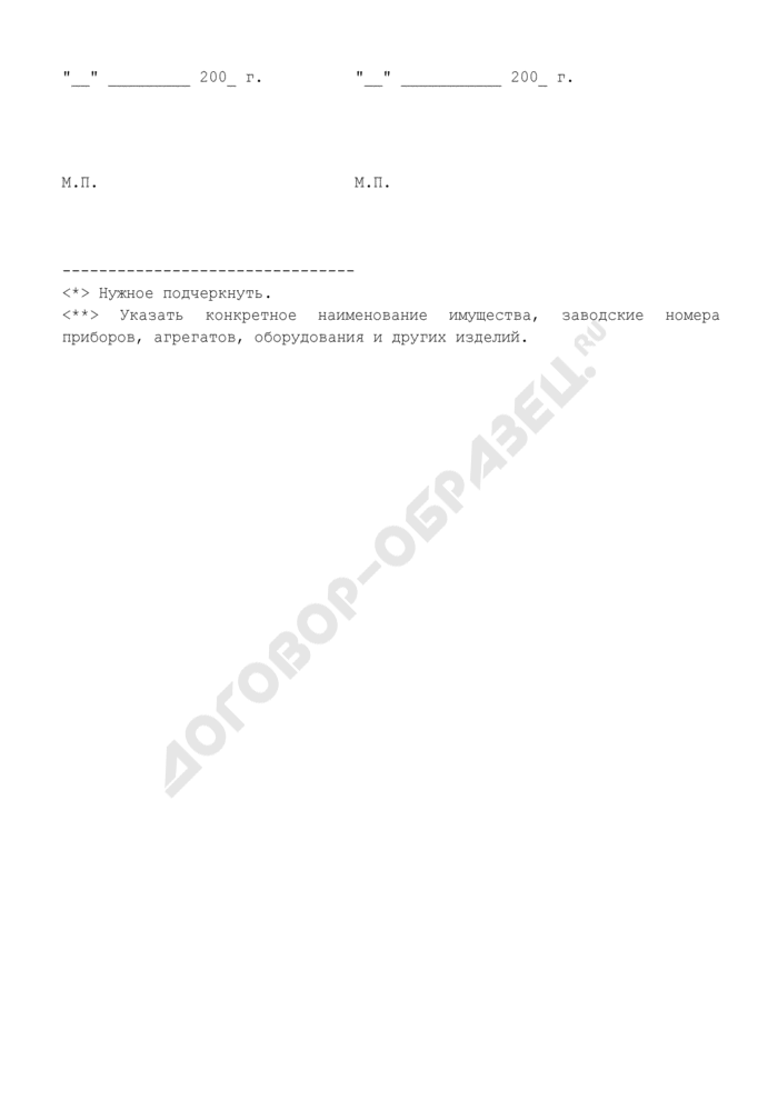 Бланк материального пропуска на внос (вынос), ввоз (вывоз) материальных ценностей в здание Федерального агентства по строительству и жилищно-коммунальному хозяйству. Страница 3