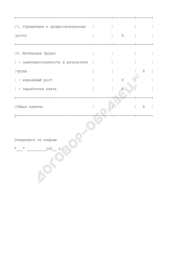 Оценка кандидата на трудоустройство. Страница 3