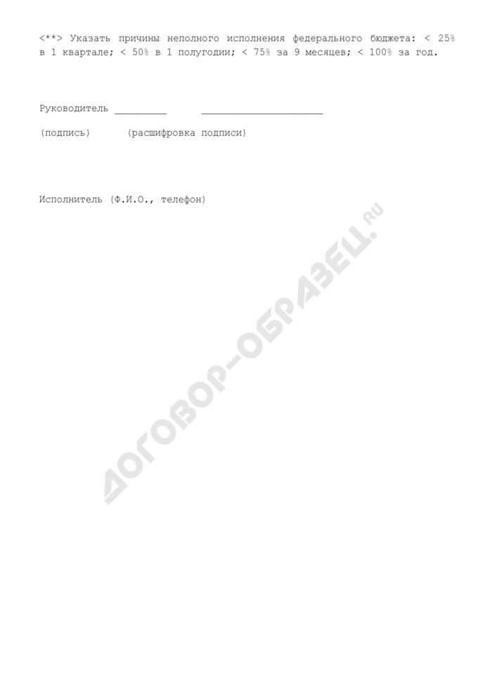 Оценка ожидаемого исполнения федерального бюджета по расходам по Управлению федерального казначейства (код БК 01 06 1020201 003). Страница 2
