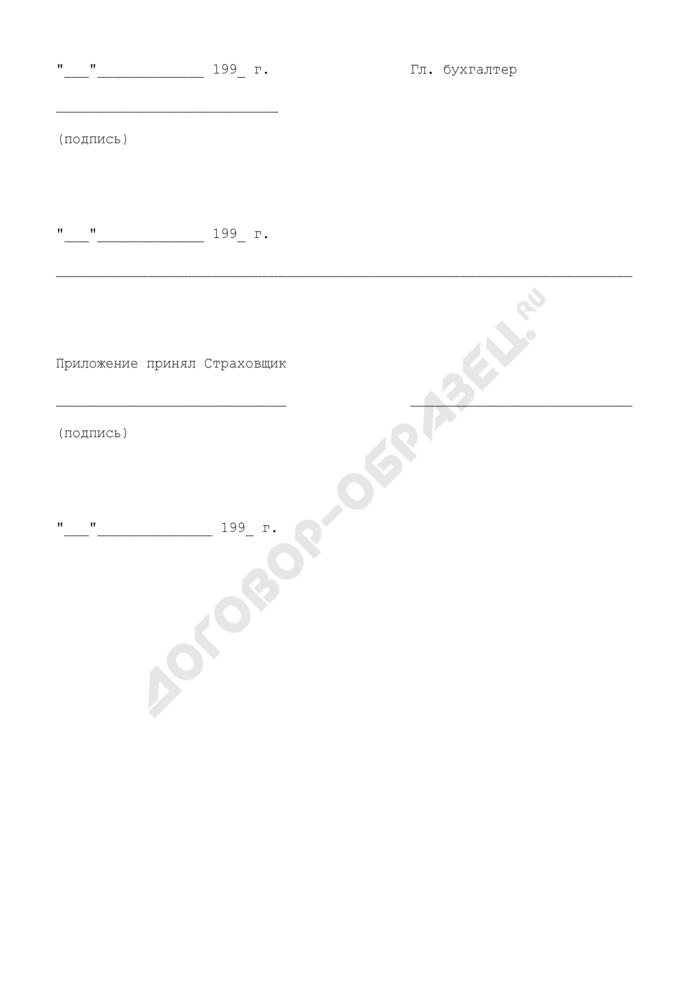 Оценочный лист жилых помещений, передаваемых на страхование по договору (приложение к соглашению к договору страхования квартир). Страница 3