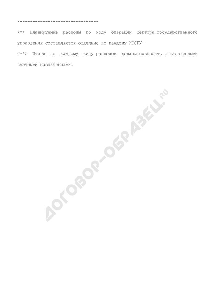 Планируемые расходы по коду операции сектора государственного управления Федеральной службы по экологическому, технологическому и атомному надзору. Страница 3
