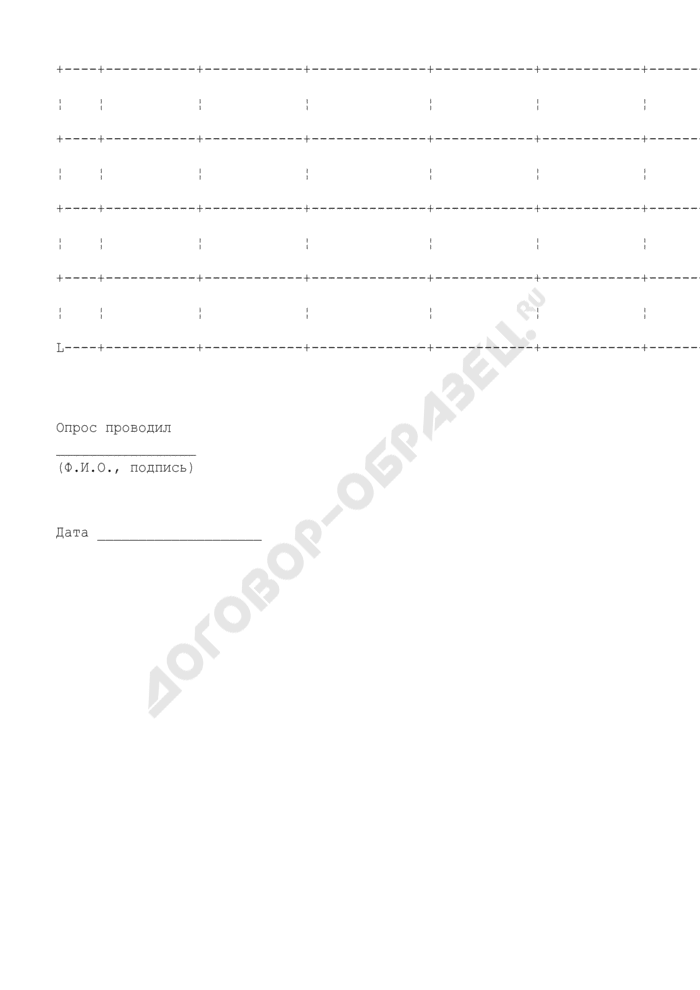 Подписной лист по сбору подписей для внесения на рассмотрение проекта муниципального правового акта в г. Серпухов Московской области. Страница 2