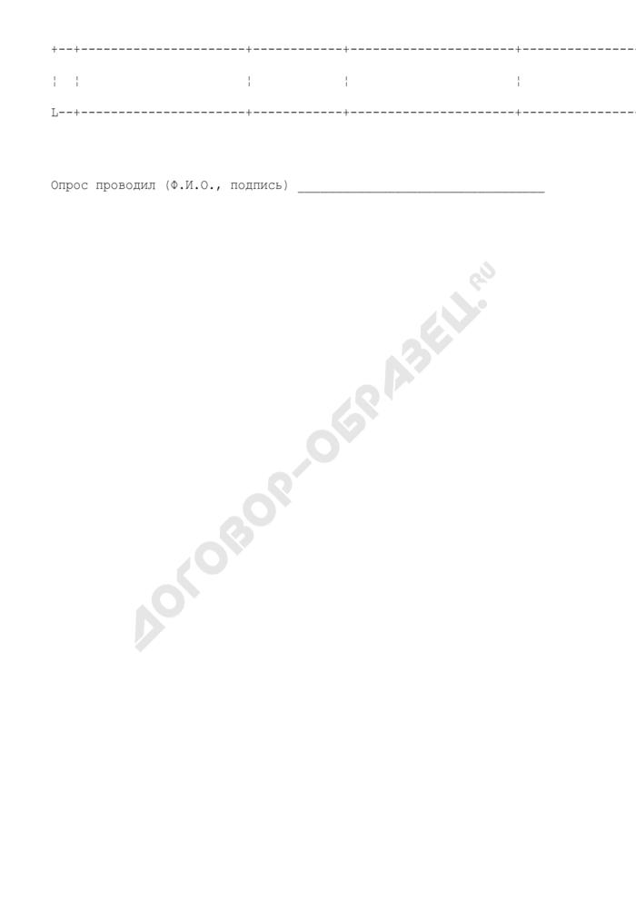 Подписной лист по сбору подписей граждан г. Троицк Московской области за градостроительную деятельность. Страница 2