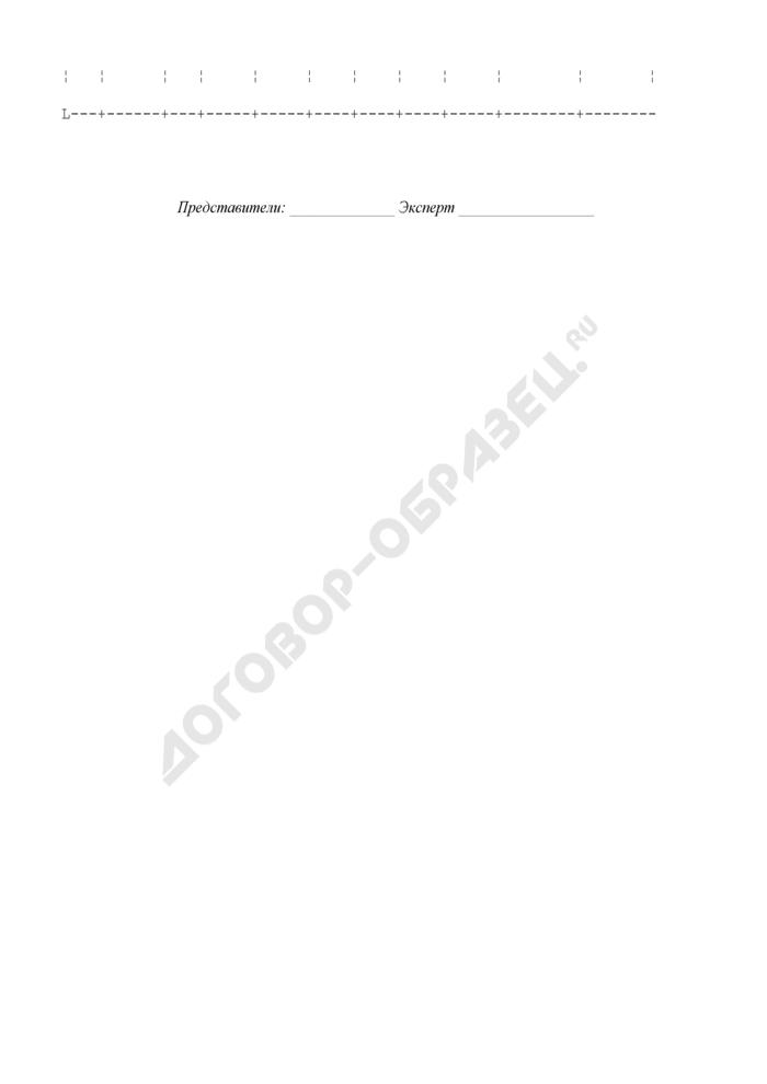 Приложение к акту экспертизы (используется при составлении акта по форме N 5 на большое количество изделий). Страница 2