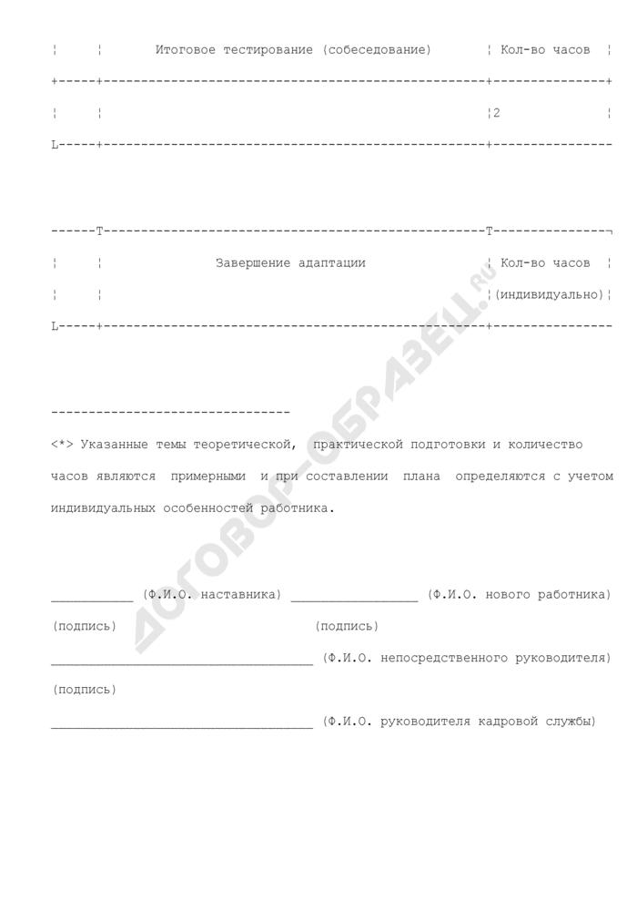 Примерная программа профессиональной и личностной адаптации работников, вновь принятых в структурные подразделения территориальных органов Пенсионного фонда Российской Федерации. Страница 3