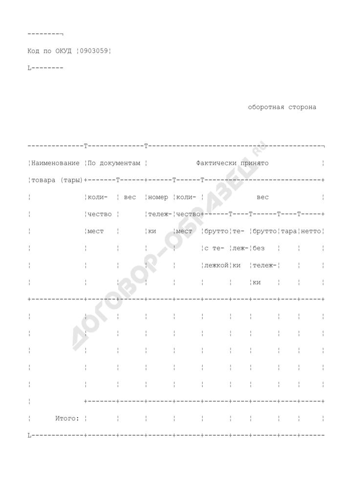 Приходный групповой отвес к приемному акту. Специализированная форма N 5-ОТ. Страница 3
