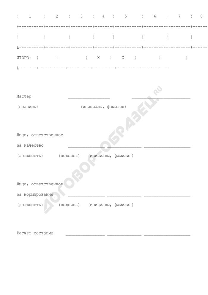 Рапорт о выработке. Страница 2