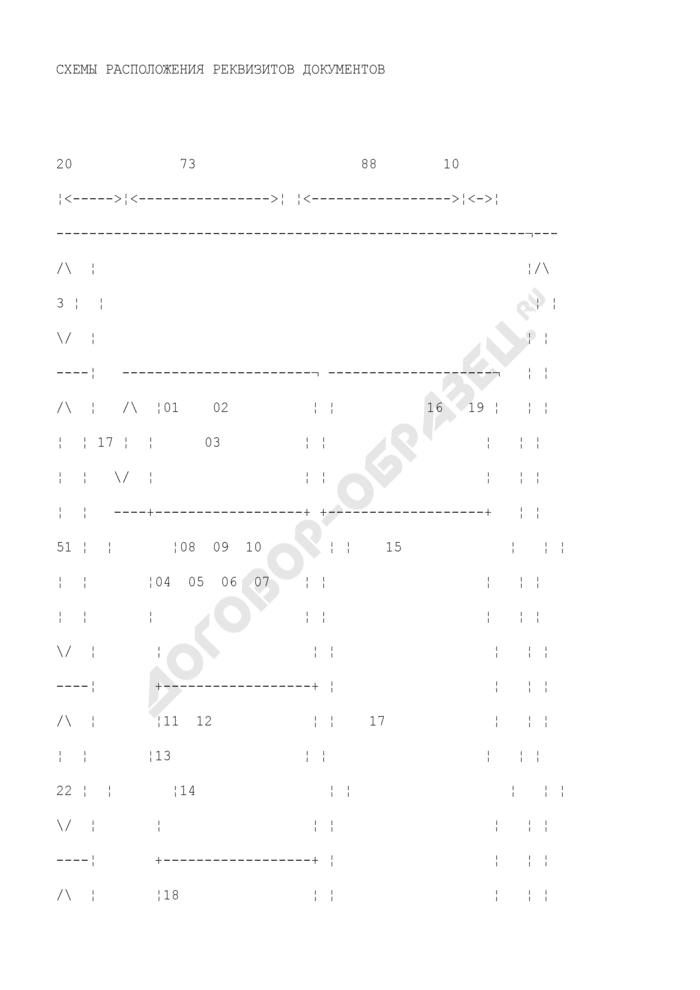 Расположение реквизитов и границы зон на формате А4 углового бланка. Страница 1