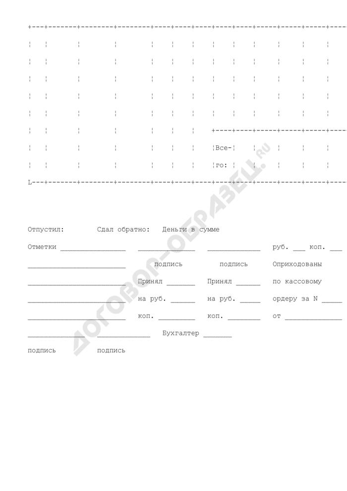 Расходно-приходная накладная (для мелкорозничной торговли). Специализированная форма N 16-ОН. Страница 2