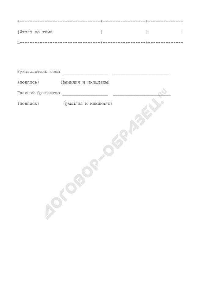 """Расшифровка затрат по статье """"Прочие расходы (прямые)"""" (приложение к структуре контрактной (ориентировочной, фиксированной) цены государственного контракта на выполнение научно-исследовательской (опытно-конструкторской) работы). Страница 3"""