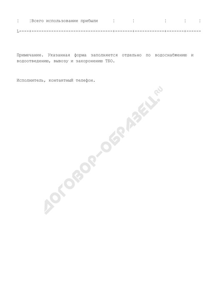 Расшифровка прибыльной составляющей по данным предприятия по водоснабжению и водоотведению, вывозу и захоронению твердых бытовых отходов на территории Шатурского муниципального района Московской области. Страница 3