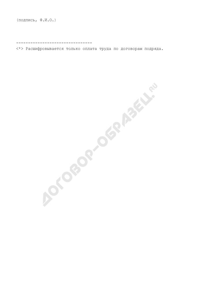Расшифровка прочих текущих расходов (приложение к смете расходов по гранту Президента Российской Федерации для государственной поддержки молодых российских ученых за счет средств федерального бюджета на 2009 год). Форма N 2гр. Страница 2
