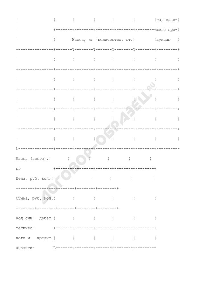 Дневник поступления сельскохозяйственной продукции. Типовая межотраслевая форма N СП-14. Страница 3