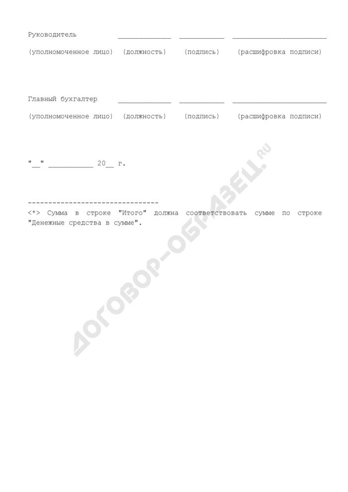 Расшифровка суммы средств, перечисленных на счет органа федерального казначейства N 40116 по картам. Страница 3