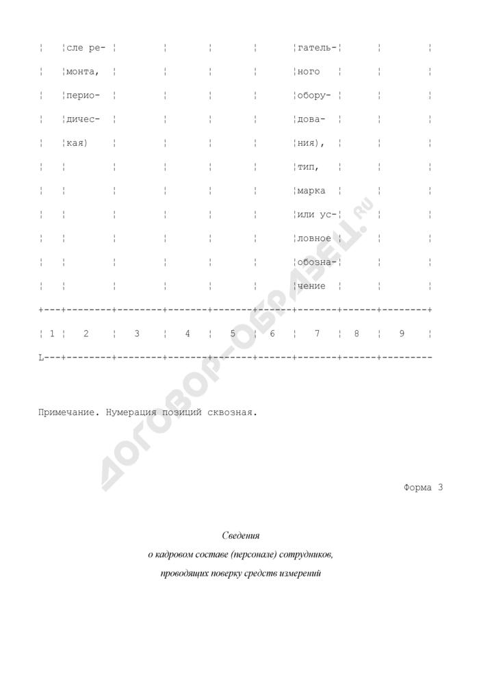 Руководство по качеству метрологической службы юридического лица (рекомендуемая форма). Страница 3