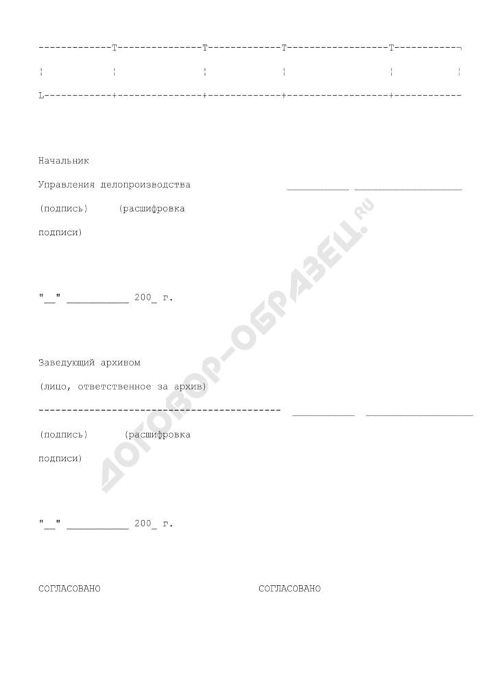 Сводная номенклатура дел центрального аппарата Федеральной службы судебных приставов. Страница 2