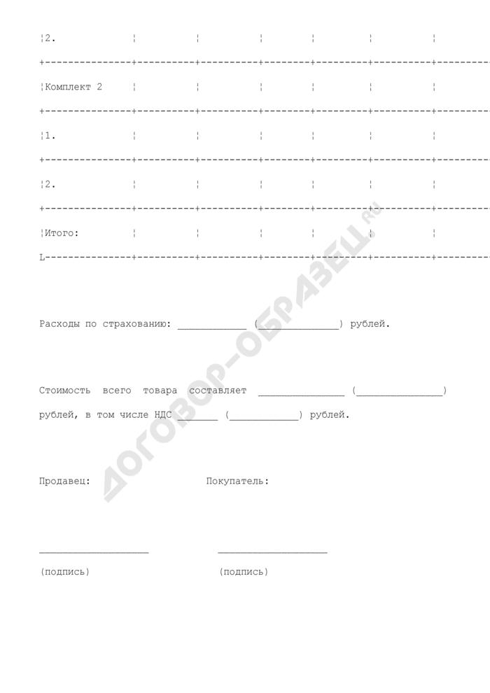 Спецификация (приложение к договору поставки товара (с элементами договора купли-продажи; с условием о возможном возврате товара)). Страница 2