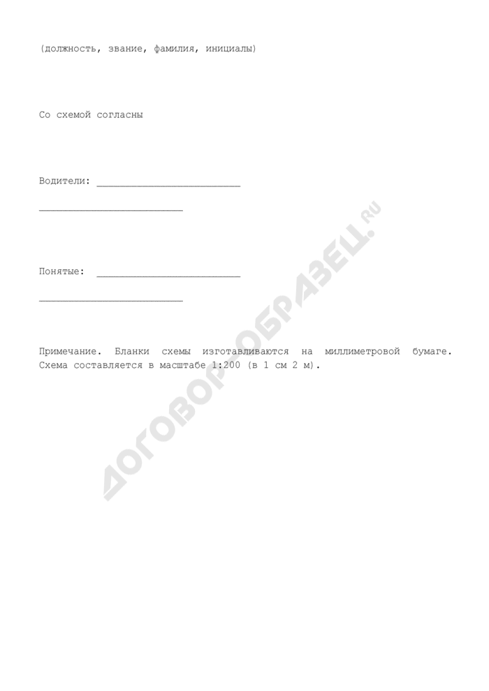 Схема места совершения административного правонарушения (образец). Страница 2