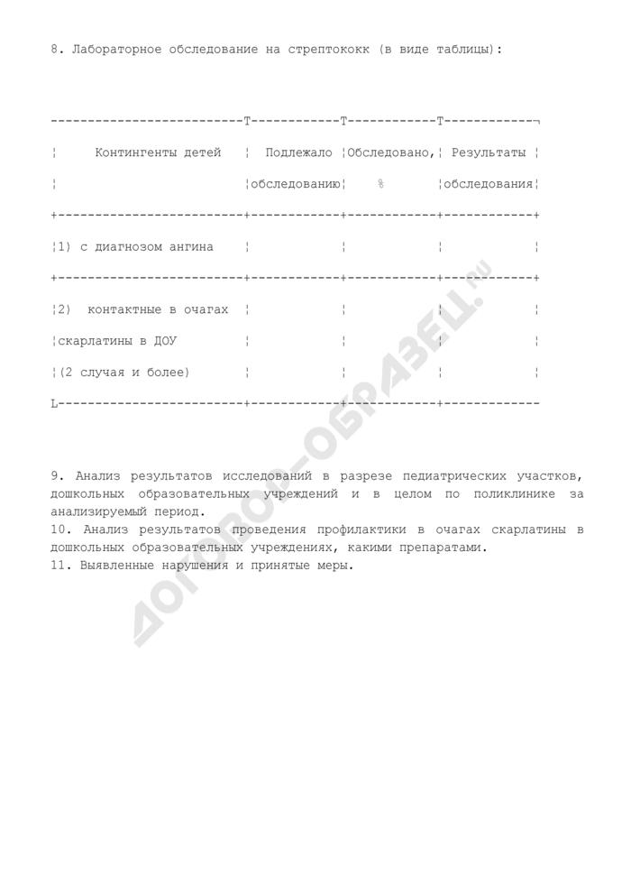 Схема проверки детских амбулаторно-поликлинических учреждений по вопросу профилактики стрептококковой инфекции (рекомендуемая форма). Страница 2