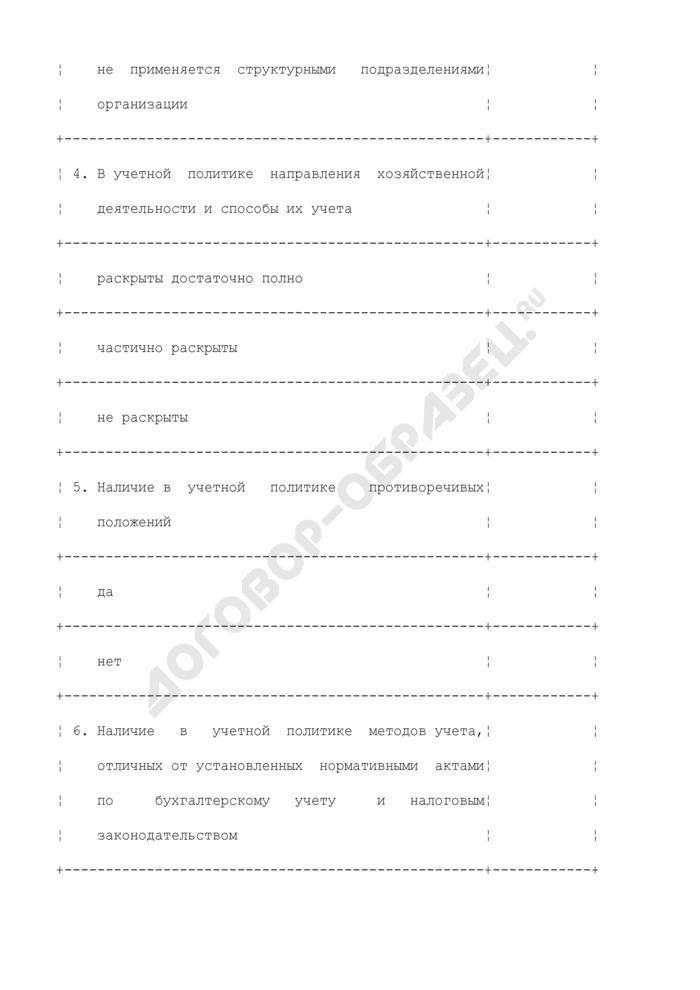"""Тест """"Оценка системы учета и внутреннего контроля. Страница 3"""