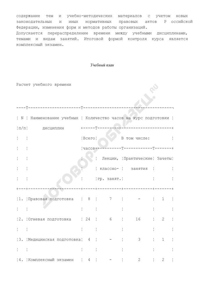 Типовая программа подготовки работников юридических лиц с особыми уставными задачами к действиям в условиях, связанных с применением боевого оружия. Страница 2