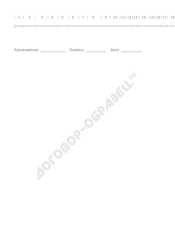 Учет численности млекопитающих и эктопаразитов на объектах таможни. Форма N 12 (рекомендуемая). Страница 2