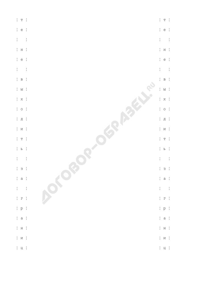 """Дополнительный бланк ответов """"С"""" (иностранные языки) участника единого государственного экзамена. Страница 2"""