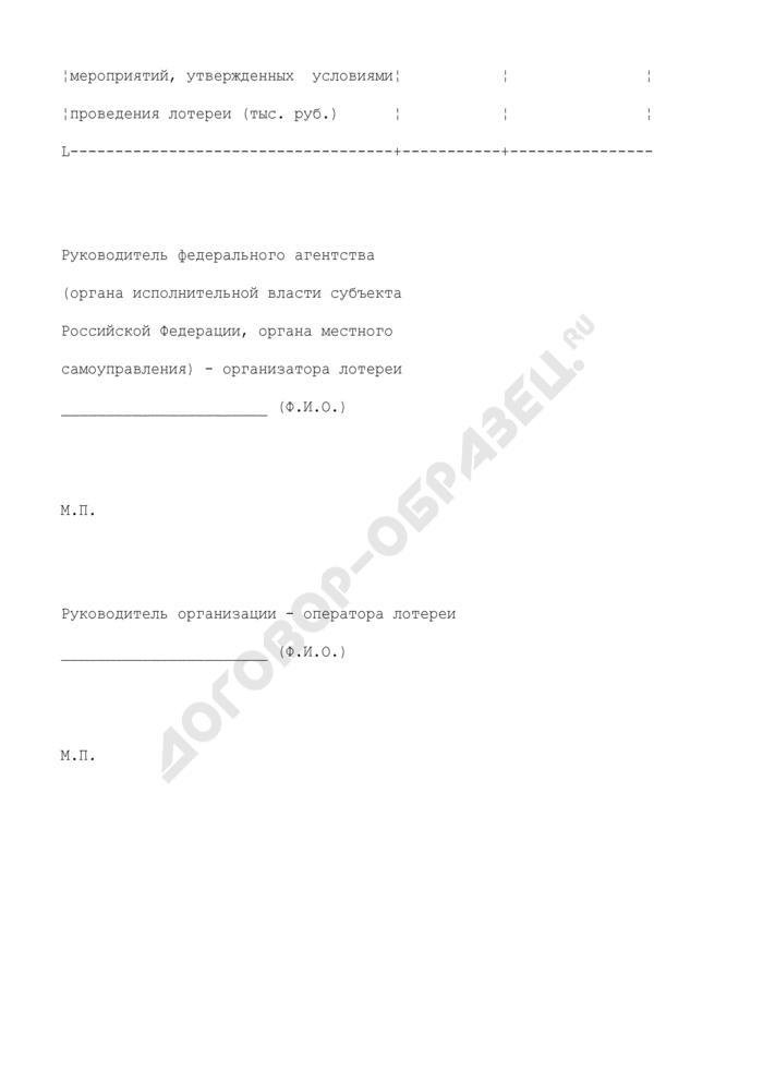Форма ежегодной отчетности о проведении государственной лотереи (негосударственной лотереи), проводимой от имени муниципального образования. Страница 3